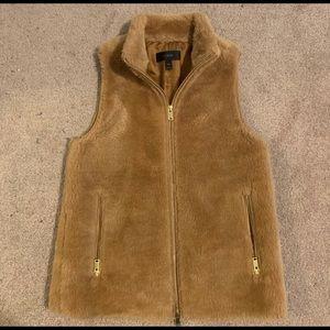 J Crew Fur Vest